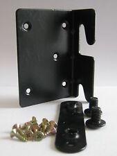 Heavy Duty Métal Cadre de lit Coin de Montage Support droit noir (comme photo)