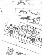 1932 1933 1934 1935 1936 1937 FORD INTERIOR & EXTERIOR BODY DIMENSION DIAGRAMS