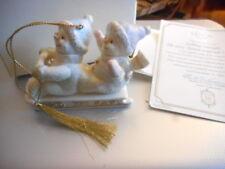 Lenox ~ Sledding Snow ~ 2001 Annual Snowman Ornament With Box And Coa