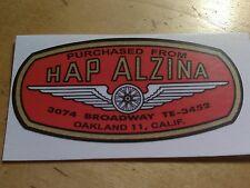 """(1) HAP ALZINA  """"BSA"""" MOTORCYCLES   DEALER  DECAL"""