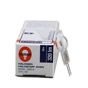 OSRAM 64428 Oven Lamp 2800K 12V20W G4 Backofen 300° Steaming Oven Light Bulb