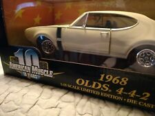 68 Olds 442 yellow in box 1:18 scale by Ertl American Muscle series 10 Fastest