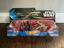 Star Wars Hot Wheels Starships Tie Fighter vs X-Wing Fighter (New in box)