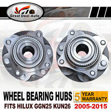 Pair Fits Toyota Hilux Front Wheel Bearing Hubs Assembly GGN25R KUN26R 6 Studs