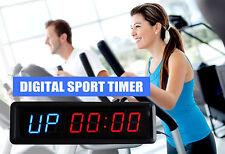DIGITAL TIMER INTERVAL CLOCK COUNTDOWN GYM STUDIO FITNESS 6 Figures Timer