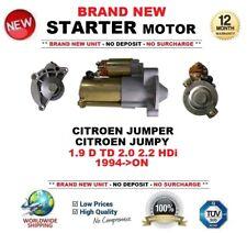 Para CITROEN JUMPER JUMPY 1.9 D TD 2.0 2.2 HDI 1994 - > Motor Arranque 1.7 kW 13 dientes