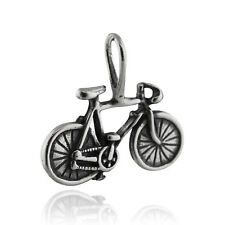 Bicycle Sterling Silver 925 Pendant - Racing Bike Drop Handlebars Cycling Charm