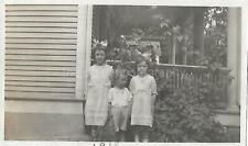 Children From Then Found Photo bw Free Shipping Old Original Snapshot 03 4 W