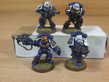 4 FINECAST WARHAMMER SPACE MARINE STERNGUARD PART PAINTED (1210)
