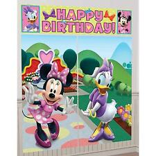 MINNIE MOUSE BIRTHDAY PARTY SUPPLIES SCENE SETTER WALL POSTER DECORATIONS