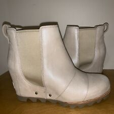 Sorel Lea Wedge Kettle Grey 7 Joan Arctic Ankle Boot Chelsea NWOB