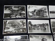 Vtg Set of 10 Black/White Photos Souvenir Postcards - Japan - Very good conditio