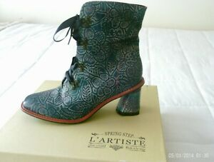 L'Artiste by Spring Step Women's Leather Boots| Size: 10.5-11| New w/Box| Floral