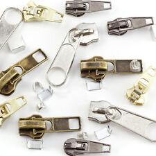 Instant Zipper Repair Kit Metal Plastic Spiral Zip Slider Replacement 22pcs MK8Z