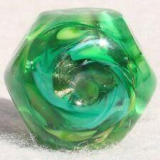 HEXED #1 Handmade Art Glass Focal Bead Flaming Fools Lampwork Art Glass SRA