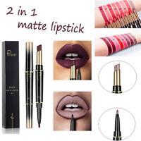 Double End Women Lipstick Matte Lip Liner Pencil Waterproof Long Lasting Makeup