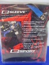 Mr Gasket 11004NB Hose + Wiring Sleeve Kit NEON Blue W/heat Shrink - 6 Sizes