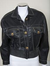 Gianni Versace Cropped Leather Jacket sz 44 Fall 1992 Bondage Collection