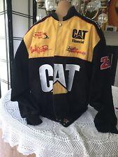Vintage Nascar winston cup jacket Team CAT Driver Ward Burton