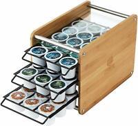 45 Keurig K Cup Organizer Bamboo Storage Coffee Pod Holder Drawer Rack Stand
