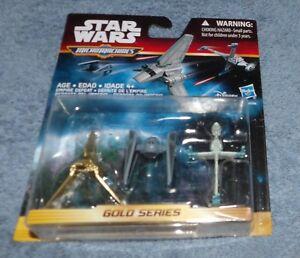 STAR WARS 2015 MICRO MACHINES GOLD SERIES EMPIRE DEFEAT SET