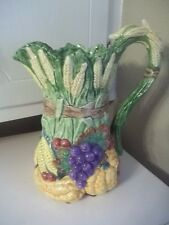 Estate Find Beautiful Signed Fitz And Floyd Harvest Pitcher 1 3/4 Qt.