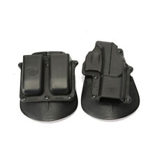 Polymer Owb Holster +Double Magzine Holder for Glock 17/19/22/23/34/35 Gen 3/4/5