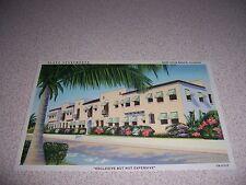 1940s PLAZA APARTMENTS 623 PARK STREET WEST PALM BEACH FLORIDA LINEN POSTCARD