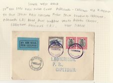 SOUTH WEST AFRICA 1931 FIRST FLIGHT COVER MARIENTAL - CAPE TOWN