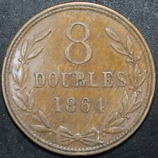 More details for 1864 | guernsey 8 doubles | coins | km coins