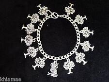 """""""Enchanted Woods"""" bracelet charme 13 Wiccan-Bijoux Argent Hibou Pagan arbre"""