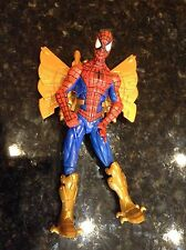 Amazing Spiderman Plastic Action Figure Gold Wings Boots