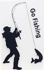 Aufkleber für Angler Go Fishing Sticker Boot Auto Köderbox Hecht Karpfen