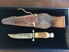 RARE VINTAGE SOLINGEN GERMANY B.SVOBODA SKINNING KNIFE W STAG HANDLE