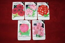 Lot: 5 Vintage Unused Lithographed Flower Seed Packets; Crosman Seed Co. NOS