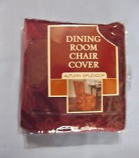 1 New Dining Room Chair Cover Wine Autumn Splendor Fits Armless Chair Up To 42""