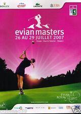 Publicité advertising 2007 Golf Evian Masters