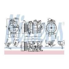 Fits Skoda Octavia MK3 2.0 TSI RS Genuine Nissens A/C Air Con Compressor