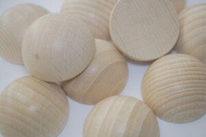 Holz Halbkugeln, Buche 30mm Ø 10 Stück, unbehandelt, Bastel- und Gestaltungsholz