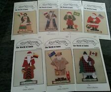 Lot of 7 Heartstrings The World of Santa Cross Stitch Patterns Charts