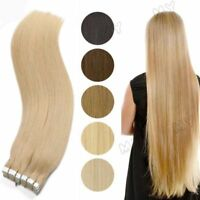 "AAA Tape In 40Pcs 100g 16""-24"" Skin Weft Remy Human Hair Extensions US Ship BS57"