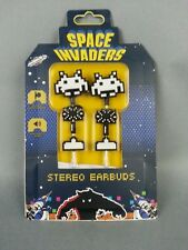 Space Invaders Stereo Earbuds Bandai Namco Video Game Arcade