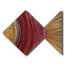 Modern Abstract Metal Wall Art Tropical Home Decor - Coral Fish by Jon Allen