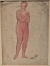 Arthur B Carles Jr Phila, PA Artist Pencil & Watercolor Nude Drawing Figure