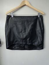 BEAUTIFUL NICHOLAS SZ 12 BLACK LEATHER SKIRT