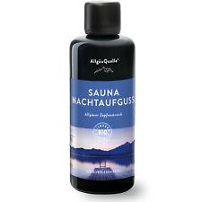 Bio-Saunaaufguss mit 100% BIO-Öle Nachtaufguss Alpenzirbe Eukalyptus 100ml