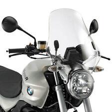 KAPPA PARABREZZA TRASPARENTE 49,5x46 + ATTACCHI per BMW R 1200 R 2006 - 2010