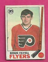 1969-70 OPC # 88 FLYERS DOUG FAVELL ROOKIE GOOD  CARD (INV# C9159)