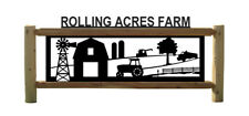 PERSONALIZED FARM SIGN-BARNS - CLINGERMANS LOG SIGNS - RANCH DECOR - TRACTORS