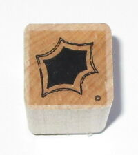 Holly Leaf Rubber Stamp Close To My Heart Leaves Winter Christmas Wood Mounted